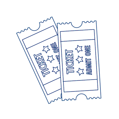Graphic of two tickets