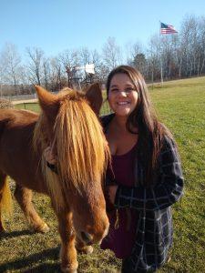 Kristin Lulich with horse (Gymir)